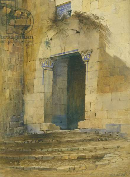 Zion Gate, March '86, 1886 (w/c on paper)
