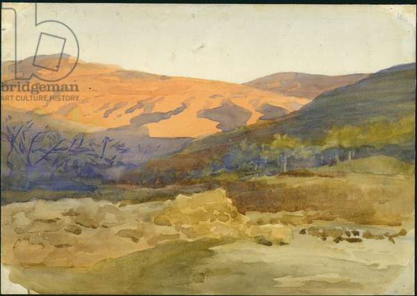 Fig Orchards, Lebanon, 1896 (w/c on paper)