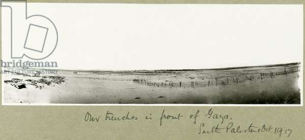 Our trenches in front of Gaza, October 1917 (b/w photo)