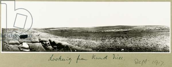 Looking from Kurd Hill, September 1917 (b/w photo)