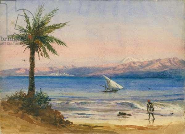 Sea of Galilee (w/c & pencil on paper)