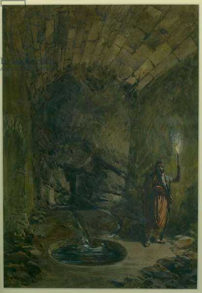 'The Sealed Fountain' The Source - Solomon's Pool, 1870 (w/c & pencil on paper)