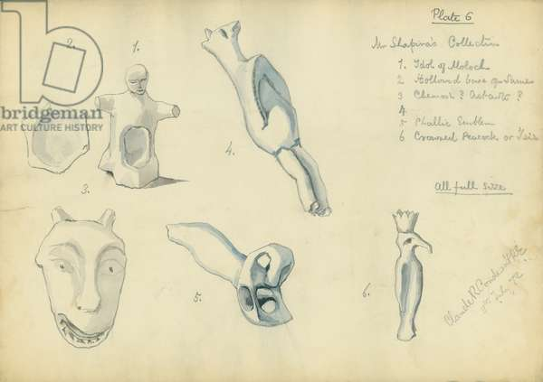 Mr Shapira's Collection, plate 6, 1872 (w/c & pencil on paper)