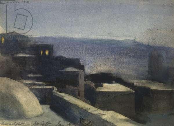 Moonlight, Es Salt, Jan '87, 1887 (w/c on paper)