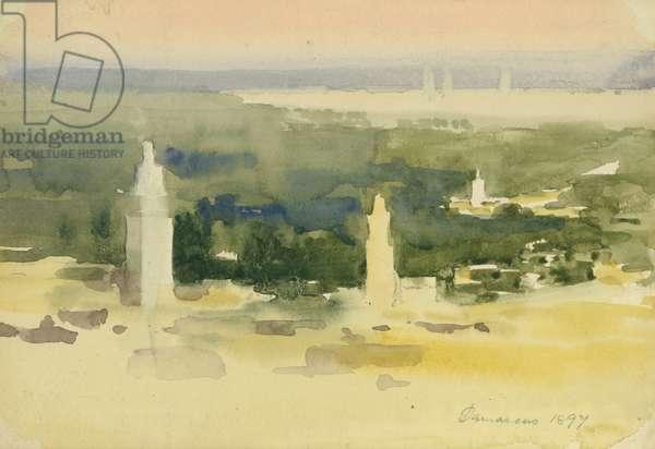 Damascus, 1897 (w/c on paper)
