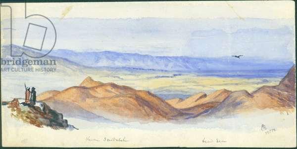 Karn Sartabeh, Jordan Valley, 1872 (w/c & pencil on paper)