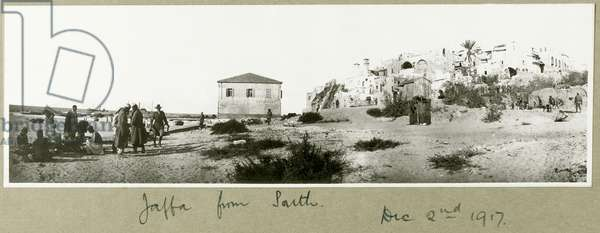 Jaffa from the South, 2nd December 1917 (b/w photo)
