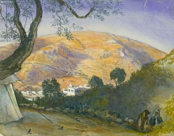Middle Eastern Landscape (w/c & pencil on paper)