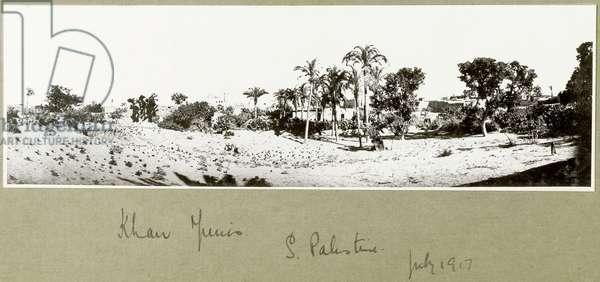 Khan Yunis, South Palestine, July 1917 (b/w photo)