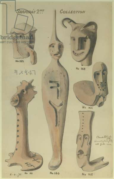 Shapira's 2nd Collection, 1873 (w/c & pencil on paper)