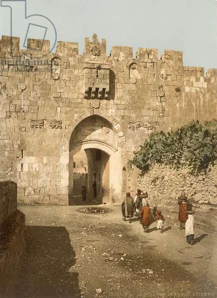 St. Stephen's Gate, also called Lions' Gate, Jerusalem, c.1880-1900 (photochrom)