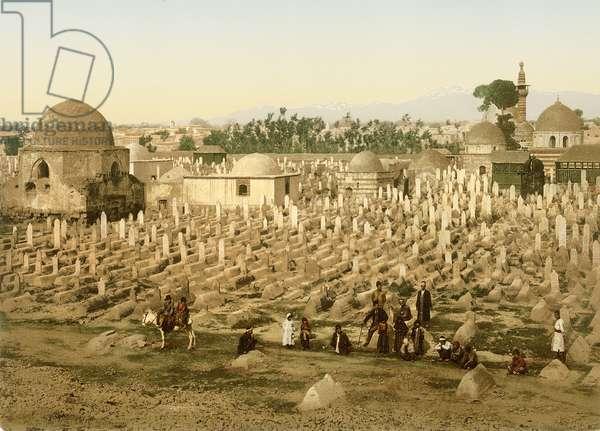 Cemetery of Meidan, Damascus, c.1880-1900 (photochrom)