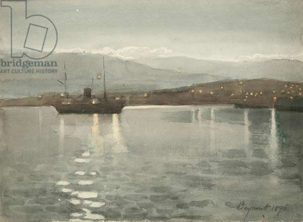 Bayrout, 1896 (w/c on paper)