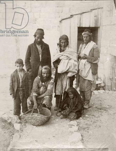 Group of Yemenite Jews, c.1898-1911 (b/w photo)
