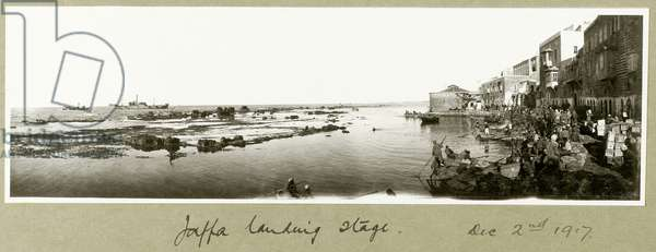 Jaffa landing stage, 2nd December 1917 (b/w photo)