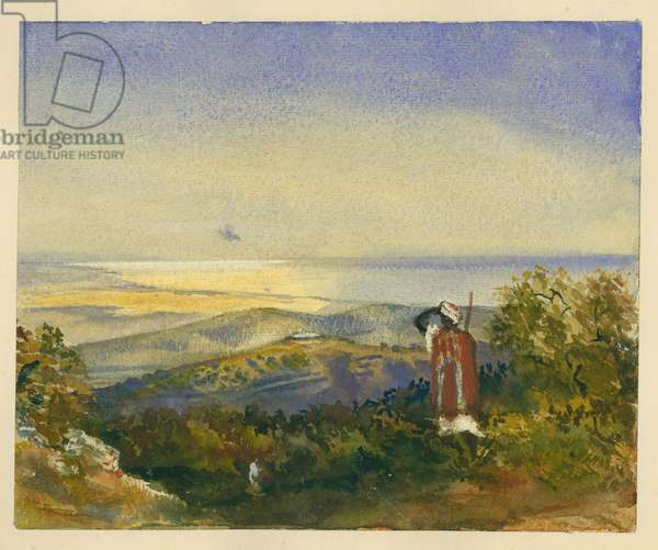 The Mahrakah, Carmel (w/c & pencil on paper)