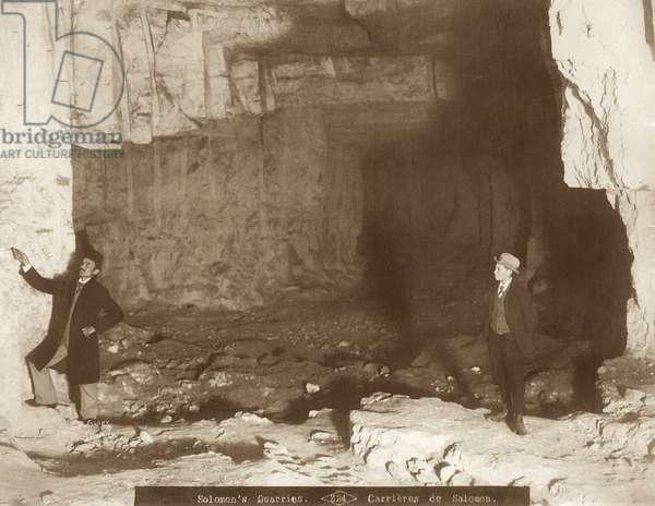 Zedekiah's Cave, Jerusalem, 1898-1911 (b/w photo)