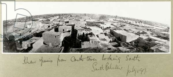 Khan Yunis from the castle tower, South Palestine, July 1917 (b/w photo)