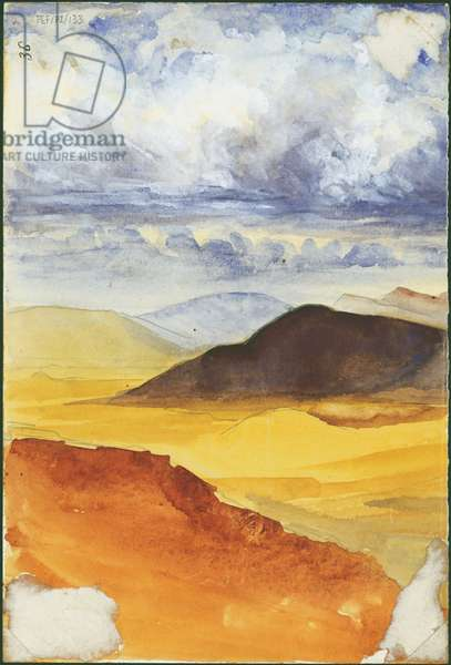 Desert landscape (w/c & pencil on paper)