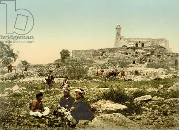The Crusader Church of St. Samuel (now a mosque) at Neby Samwil, c.1880-1900 (photochrom)