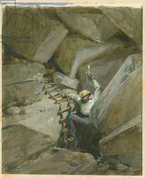 Fallen Voussoirs of Robinson's Arch, Jerusalem, 1869 (w/c & pencil on paper)
