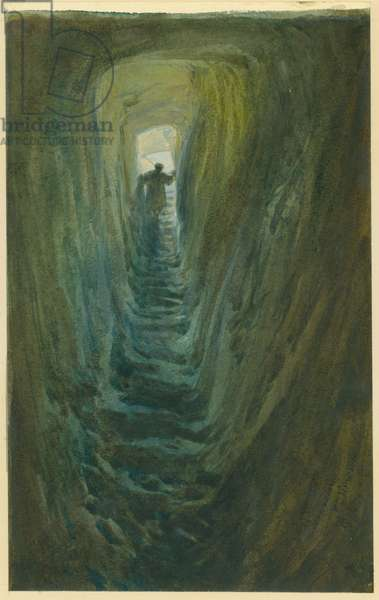 Well of the Steps, Jerusalem, 1871 (w/c & pencil on paper)