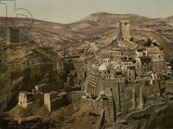 Monastery of Mar Saba, c.1880-1900 (photochrom)
