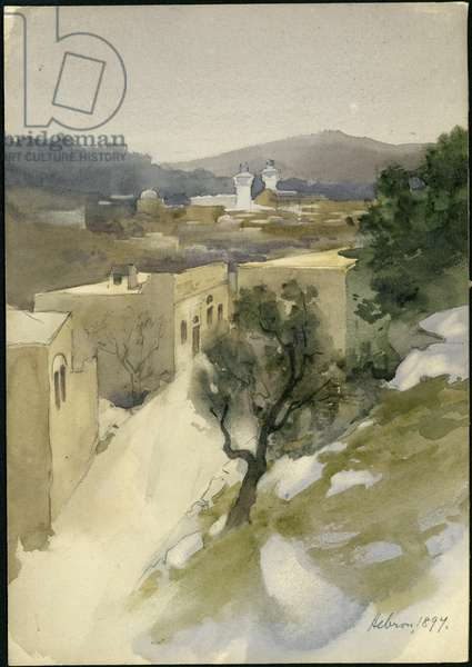 Hebron, 1897 (w/c on paper)
