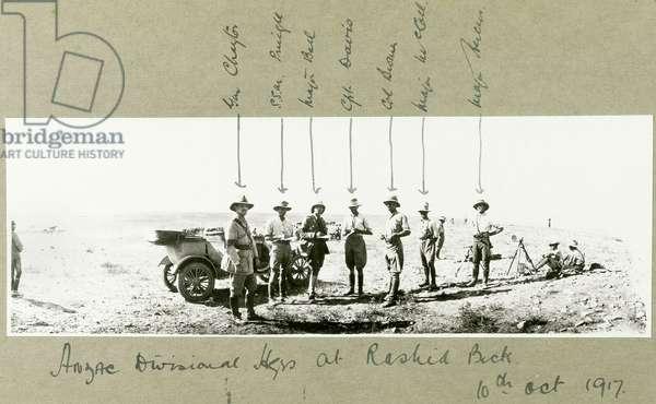 ANZAC Divisional Headquarters at Rashid Beck, October 1917 (b/w photo)