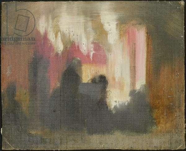 The Shrine of the Nativity, Christmas 1886 (oil on canvas)