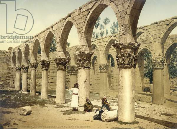 Ancient mosque, Baalbek, c.1880-1900 (photochrom)
