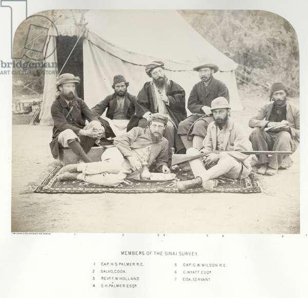 Members of the Sinai Survey, 1868 (b/w photo)