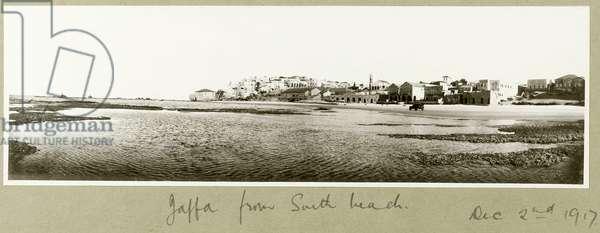 Jaffa from South Beach, 2nd December 1917 (b/w photo)