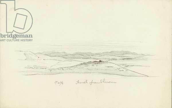 Jezreel from Shunem, 1874 (pencil on paper)