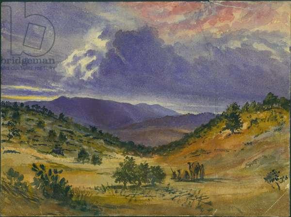 Mount Carmel, 1872 (w/c & pencil on paper)