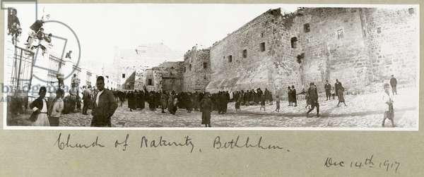 Church of the Nativity, Bethlehem, 14th December 1917 (b/w photo)