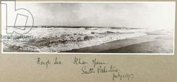 Rough Sea, Khan Yunis, July 1917 (b/w photo)