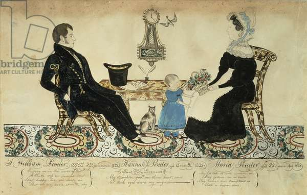 William Pender Family, 1833 (w/c & ink on paper)