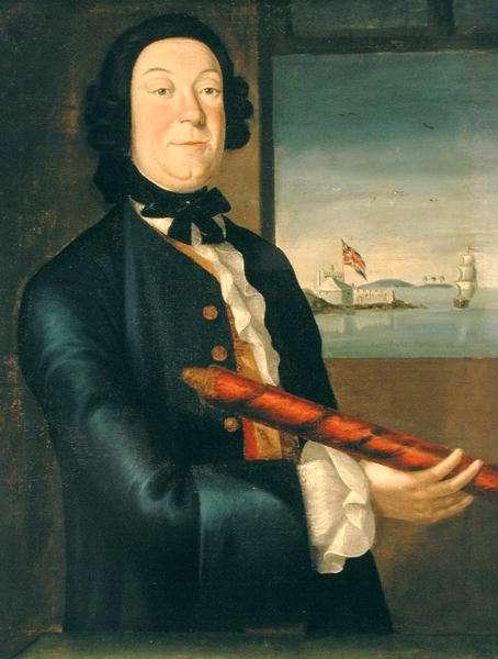 Portrait of John Clarke (1701-64) 1745-50 (oil on canvas)