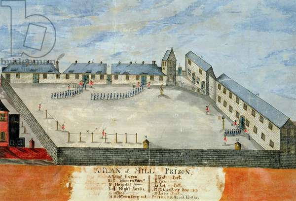 Plan of Mill Prison, late 18th or early 19th century (w/c & ink on paper)