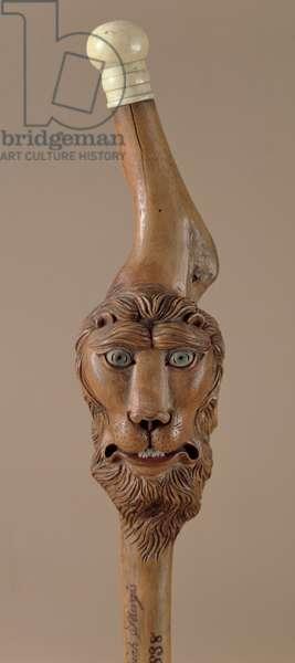 Presentation cane, c.1838 (wood with ivory handle)