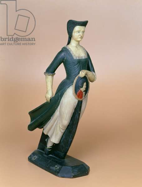 Model of a figurehead, c.1800 (painted wood)