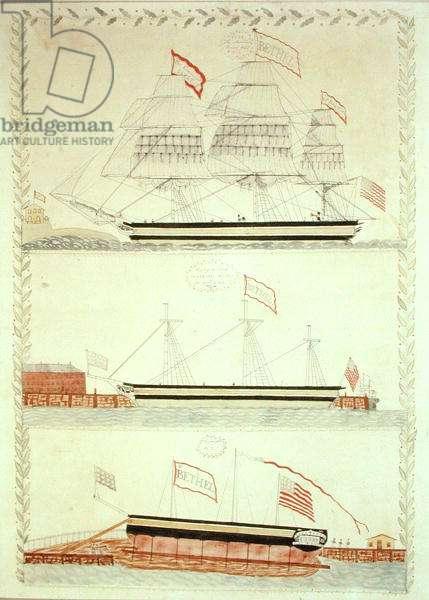 The Ship 'Bethel', c.1832 (w/c on paper)