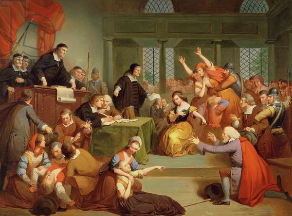 The Trial of George Jacobs, 5th August 1692, 1855 (oil on canvas)