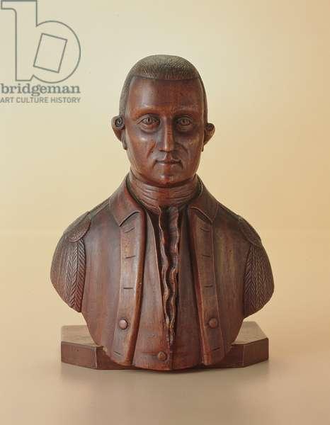 Portrait bust of George Washington (1732-99) c.1810 (wood)