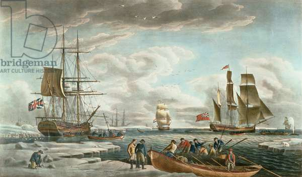 The Greenland Whale Fishery, published by John & Josiah Boydell, 1789 (colour aquatint)