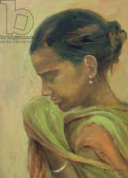 Indian Girl, 1991 (oil on board)