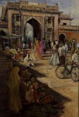 Entrance to Sardar Market, Jodhpur, Rajasthan