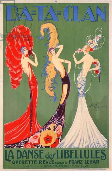 Ba-Ta-Clan: Dance of the Dragonflies (colour litho)