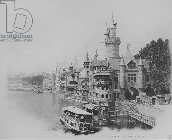 'Le Pre aux clercs' restaurant - Universal Exhibition in Paris, 1900 (b/w photo)